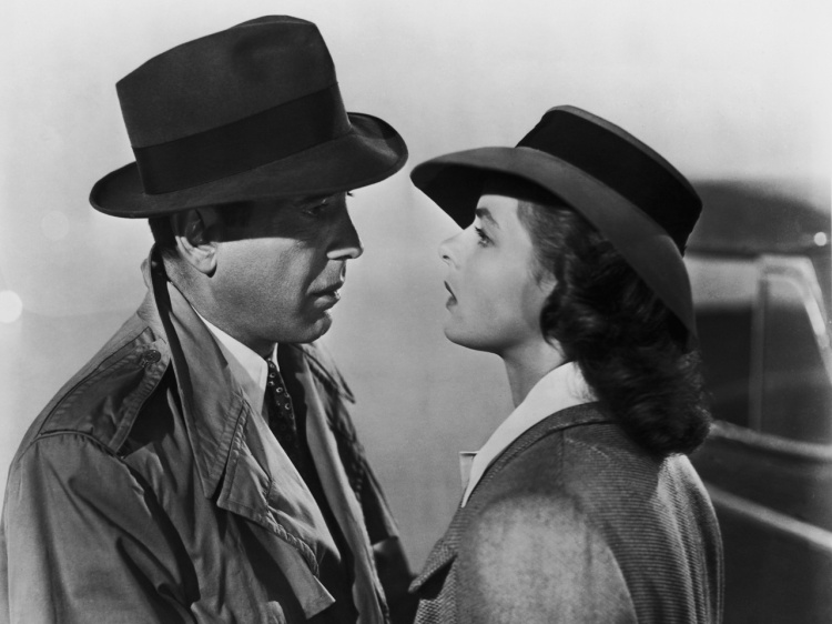 http://www.gettyimages.co.uk/Search/Search.aspx?EventId=113854183&EditorialProduct=Archival&esource=maplinARC_uki_12nov Humphrey Bogart (1899 - 1957) and Ingrid Bergman (1915 - 1982) star in the Warner Brothers film 'Casablanca', 1942. (Photo by Popperfoto/Getty Images)